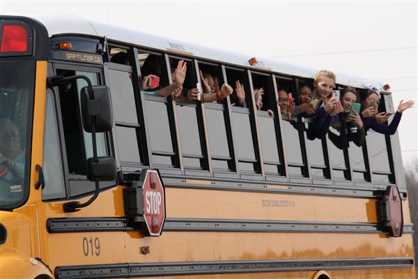 Sectionals bus cruises by their fans!